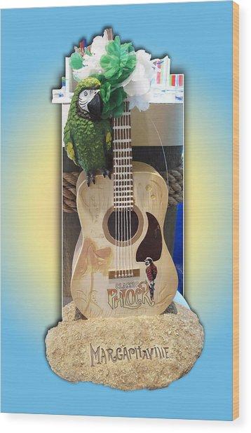 Summer Guitar Wood Print
