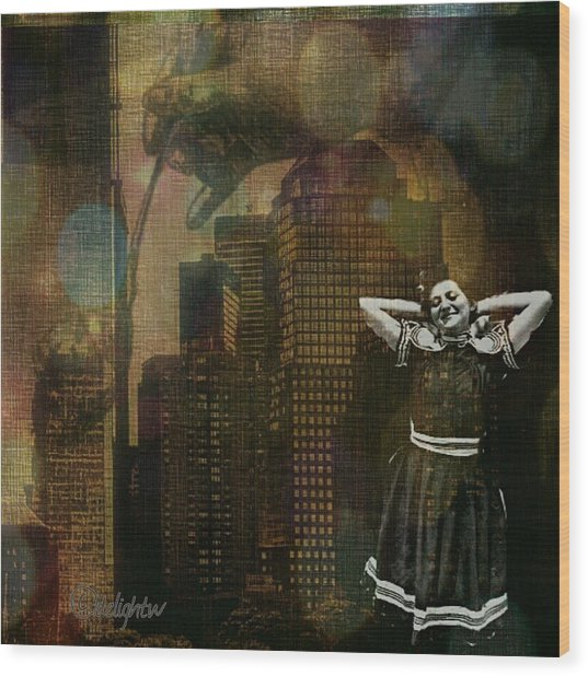 Wood Print featuring the digital art Summer In The City by Delight Worthyn