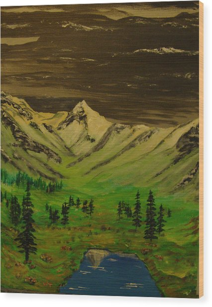 Summer In The Mountains Wood Print by Iam Wayne