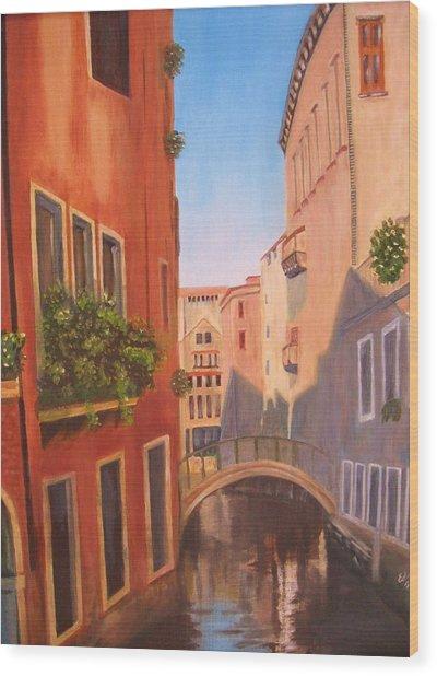 Summer In Venice Wood Print by Edna Fenske
