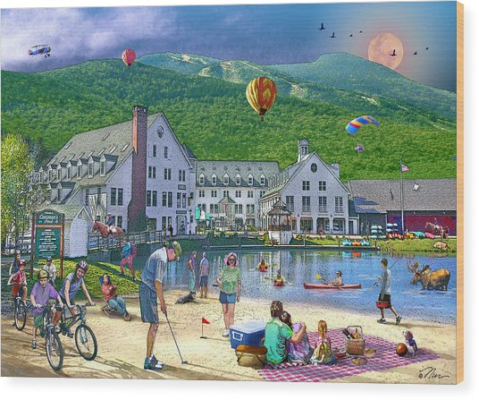 Summer In Waterville Valley Wood Print