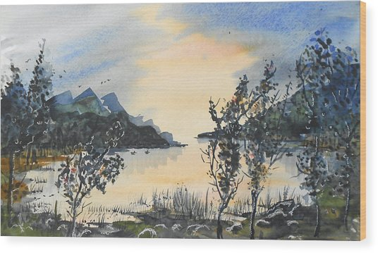 Summer Lake Wood Print