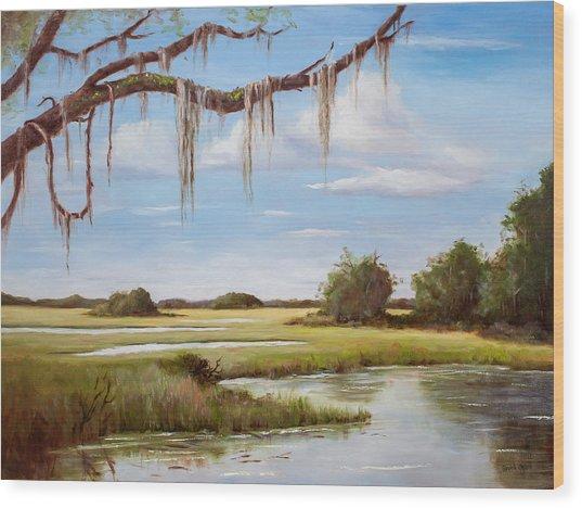 Summer Marsh Wood Print