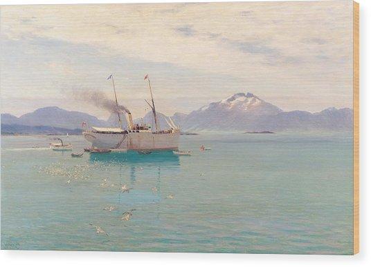 Summer Morning At Molde, 1892 Wood Print