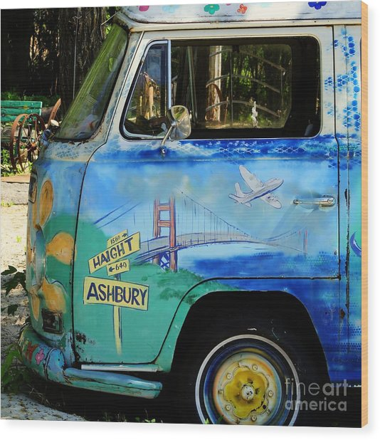 Summer Of Love In Hashbury Wood Print