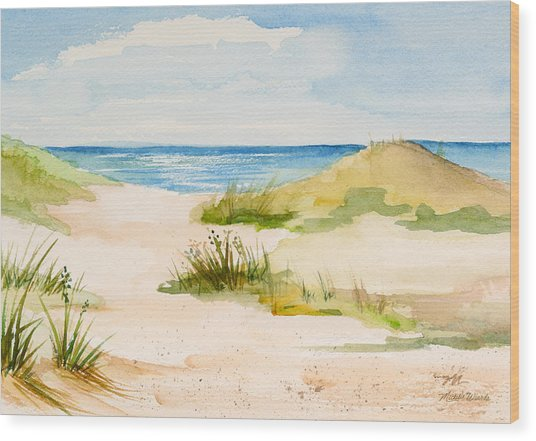 Summer On Cape Cod Wood Print