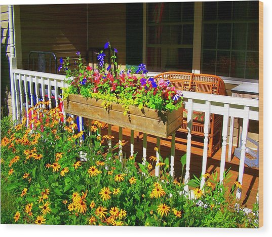 'summer Porch' Wood Print