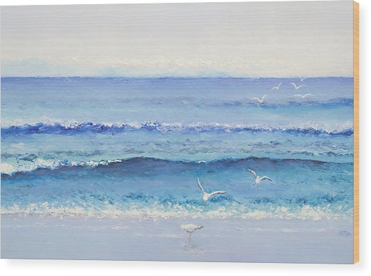 Summer Seascape Wood Print