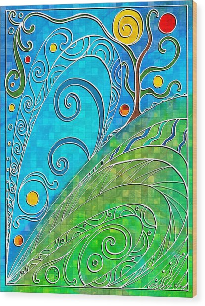 Summer Solstice Wood Print