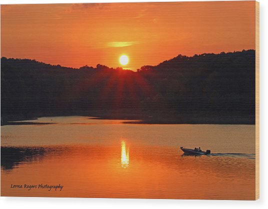 Summer Star Burst Sunset With Signature Wood Print