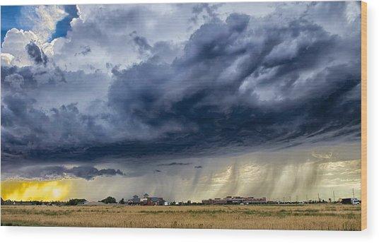 Summer Storm Twin Falls Idaho Wood Print