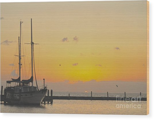 Summer Sunrise Wood Print