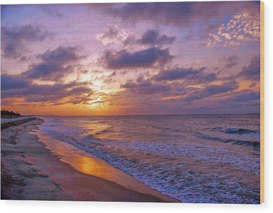 Summer Sunrise On Edisto Island Wood Print