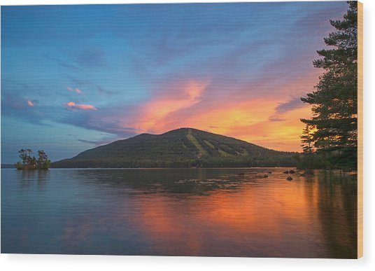 Summer Sunset At Shawnee Peak Wood Print