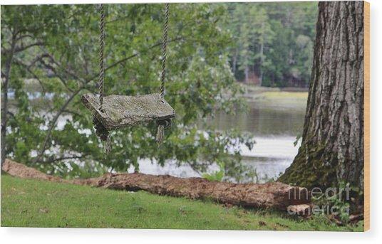 Summer Swing Wood Print