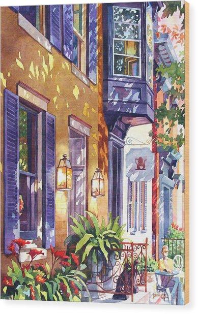 Summer Tea Wood Print