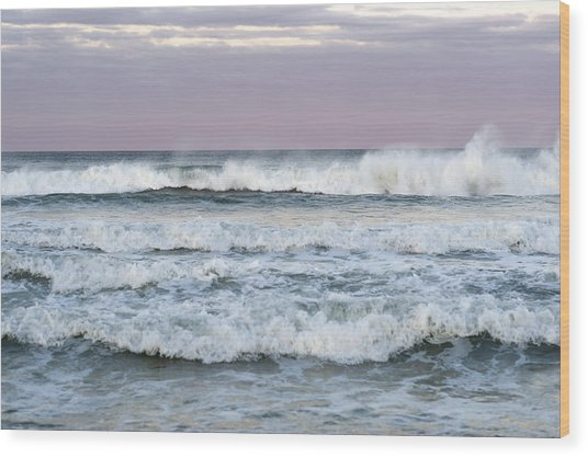 Summer Waves Seaside New Jersey Wood Print