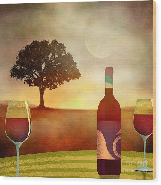Summer Wine Wood Print