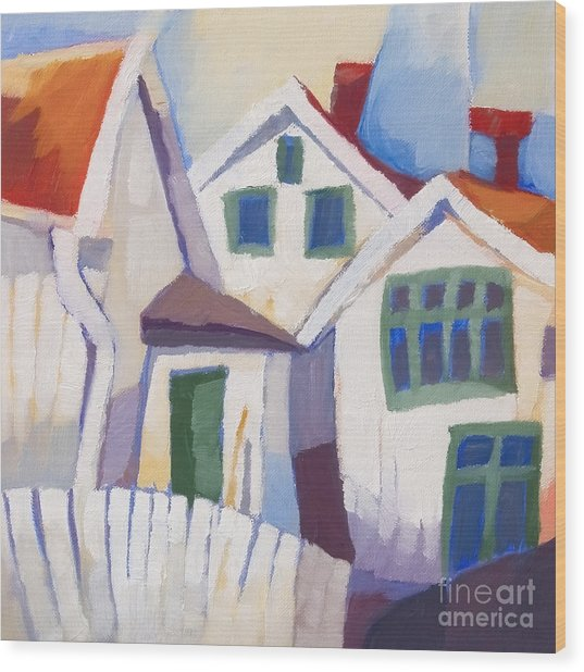 Summerhouses Wood Print