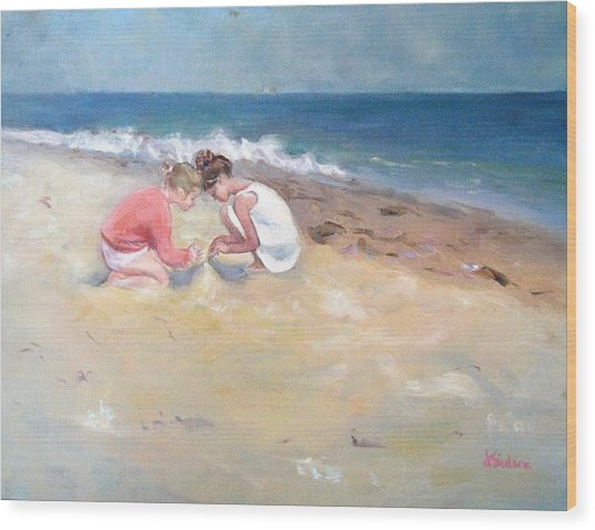 Summertime Wood Print by Dorothy Siclare