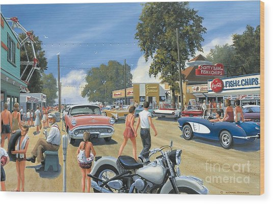 Summertime Wood Print by Michael Swanson