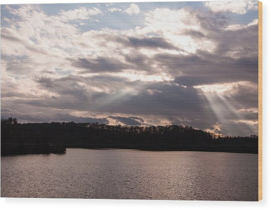 Wood Print featuring the photograph Sun And Clouds  by Rosemary Legge