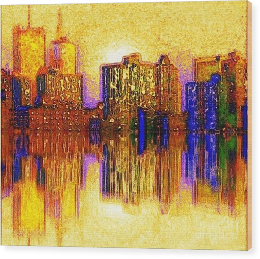 New York Heat Wood Print