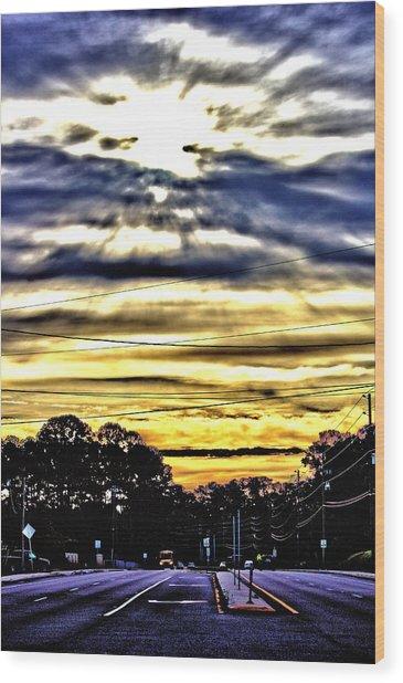 Sun Burst Wood Print