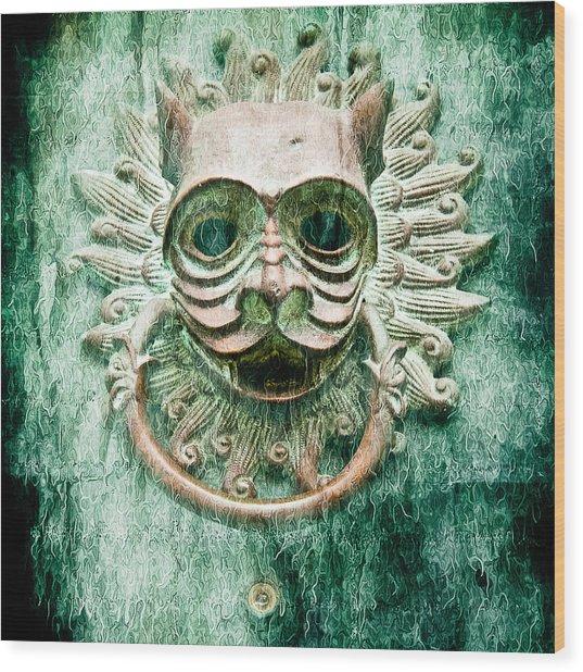 Sun Cat Door Knocker Old Polar Wood Print
