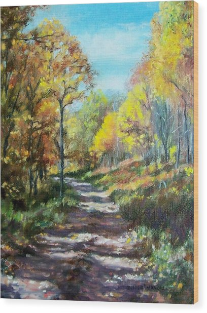 Sun Dappled Path Wood Print