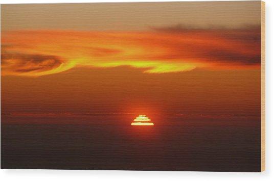 Sun Fire Wood Print