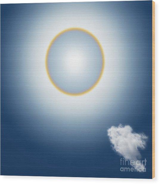 Sun Halo Wood Print