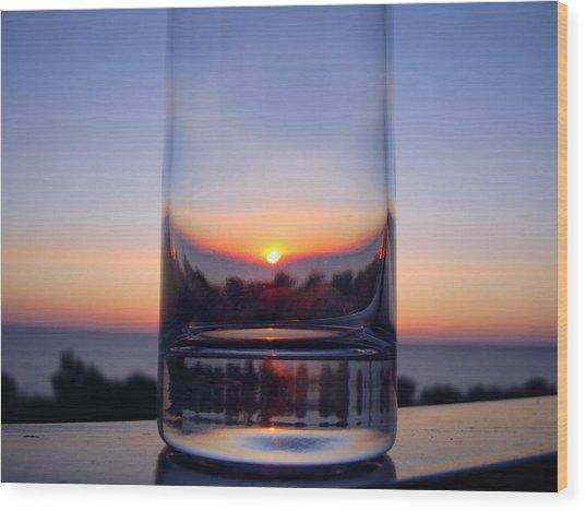 Sun In The Glass Wood Print