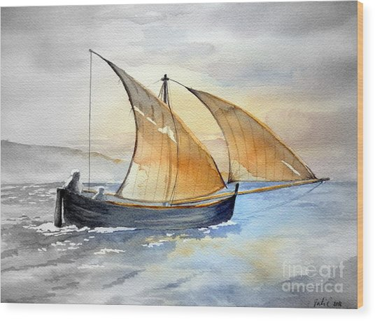 Sun In The Sails  Wood Print