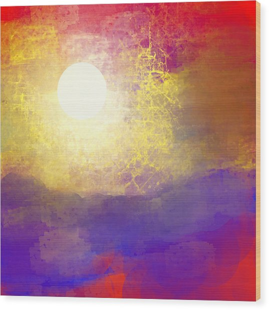Sun Over The Canyon Wood Print by Jessica Wright