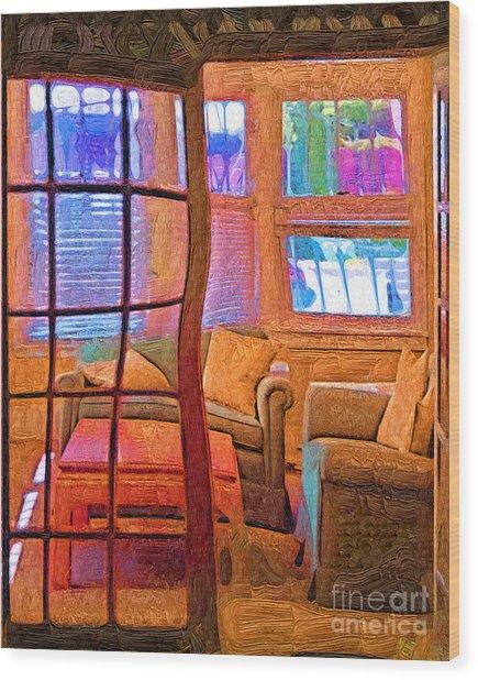 Sun Porch Wood Print