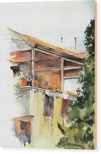 Sun Porch Wood Print by Sophia Rodionov