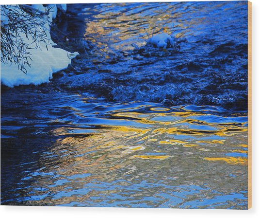 Sun Reflection Wood Print