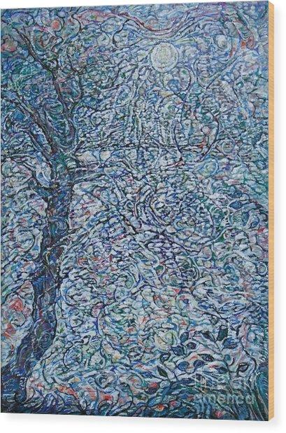 Lake Of Silver  Wood Print