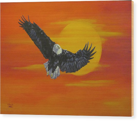 Sun Riser Wood Print