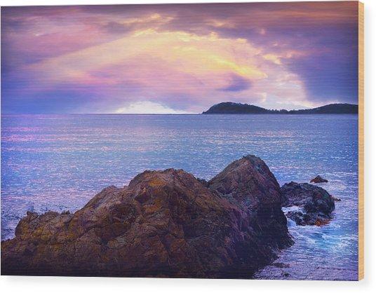 Sun Set Over St. Thomas Wood Print