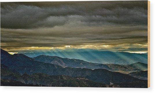 Sun Storm Wood Print