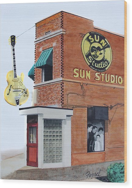 Sun Studio Wood Print