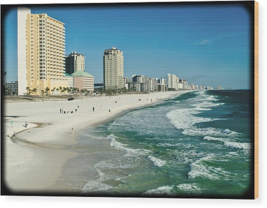 Sun Surf Sand And Condos Wood Print