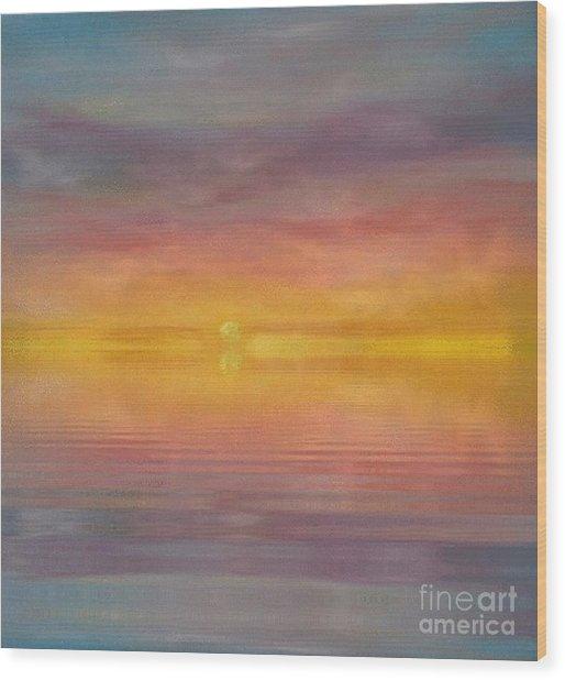 Sun Tapestry Wood Print