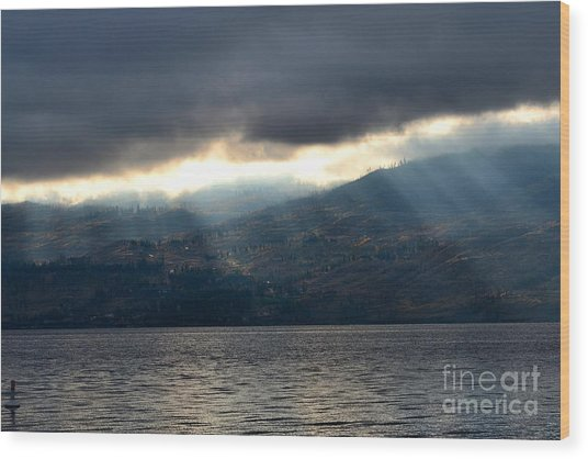 Sunbeams On The Mission II Wood Print by Phil Dionne