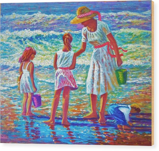 Sunday Afternoon At The Beach Wood Print by Joseph   Ruff