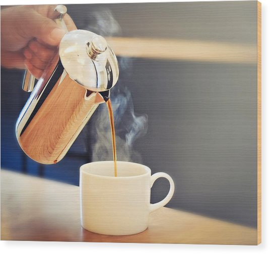 Sunday Brunch Coffee At Fundamental L.a Wood Print