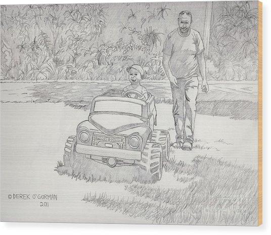 Sunday Drive Wood Print