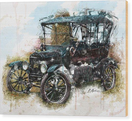 Sunday Driver Wood Print